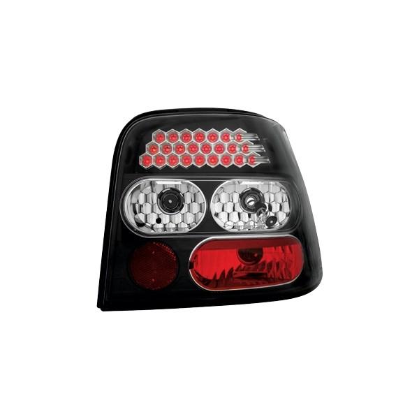 Achterlichten VW Golf IV LED clear zwart